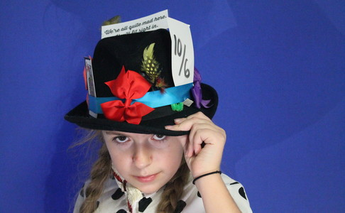 A Mad Hatter's Tea party hosted by year 7.
