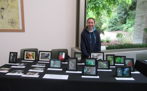 Dover Girls Grammar School Student Imogen Robinson at the Community Showcase at Walmer Castle