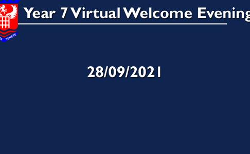 28/09/2021 Year 7 Virtual Information Evening